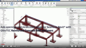 Recalculating rebar for beams