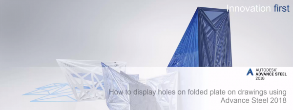 How to Show Holes in Folded Plate in Advance Steel
