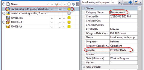 Vault Tips - Checking the Autodesk Vault File Category Filter