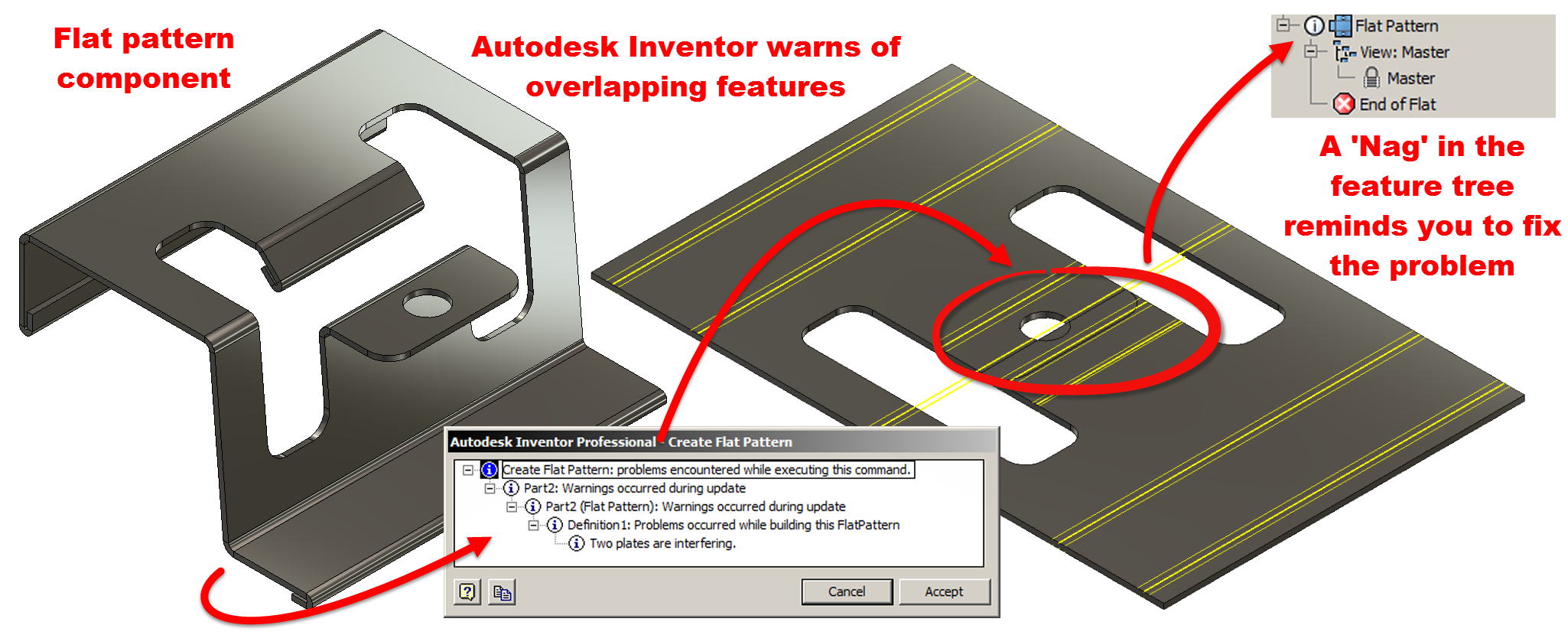 Autodesk Inventor Sheet Metal, Flat pattern success – Every time